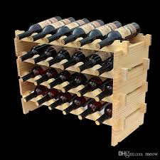 wine rack. Online Cheap Wooden Wine Rack Diy Assemble Shelf Wood Holders Suitable For Hotel Cellar Bar Club Home By Amazonkitchen | Dhgate.Com