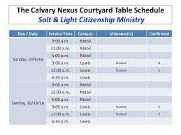 Salt And Light Volunteer Calvary Nexus Salt Light Ministry Launch Ppt Download