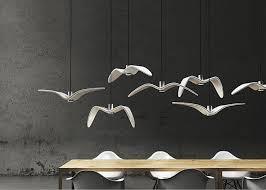Lovely Nightbirds Suspension Lighting Pure White Acrylic LED