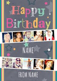 Multi Photo Upload Birthday Card Female Photo Strips Funky Pigeon