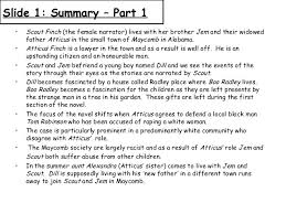 to kill a mockingbird  summary key pointsindex page 3