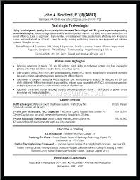 Radiologic Technologist Resume Templates Radiographer Resume Samples ...