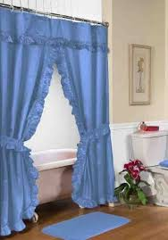 coffee tables ruffled double swag shower curtain with valance tie backs light shower curtains with