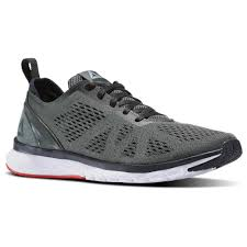 reebok running shoes. reebok - print smooth clip ultraknit ironstone / coal white glow red pewter running shoes i