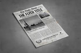 Newspaper Front Page Template Indesign 2x1 Page Newspaper Template Indesign Graphic By Ted Creative Fabrica