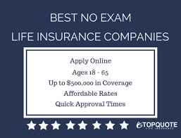 Term Life Insurance Quotes No Medical Exam Mesmerizing No Exam Life Insurance Quote Best Accelerated No Medical Exam Term