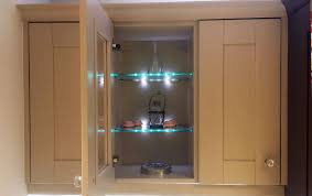 wall unit with glass shelves