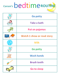 Bedtime Chart Toddler Bedtime Routine Chart Bedtime Routine Chart