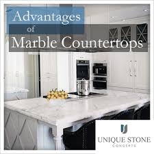 advantages of marble countertops
