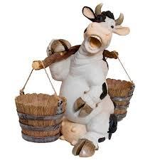 <b>Кашпо</b> Корова с коромыслом – <b>Садовая фигура</b>   Рассада цветов ...