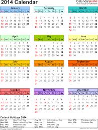 2014 Calendar Pdf 13 Free Printable Calendar Templates For Pdf