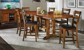 picture of iron strap solid mango counter height dining set