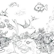 Amazing Coloring Pages Ocean Color For Waves Fish Preschool Lost