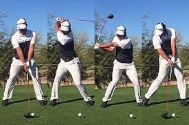 ゴルフ スイング 右 肘