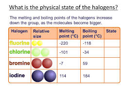 The properties and reactions of the halogens - YouTube