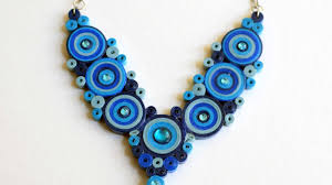 Quilling Chain Designs Blue Necklace Quilled Necklace Diy Paper Necklace
