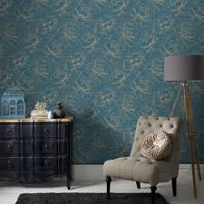 Graham Brown Superfresco Easy Flourish Teal Wallpaper Laylagrayce