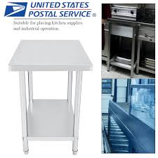 Details About Stainless Steel Kitchen Work Table Commercial Restaurant Food Prep 24 X 36