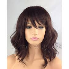 Light Brown Shoulder Length Wig Details About Dark Auburn Brown Wig Ladies Womens Wavy Shoulder Length Bob Style Uk Seller