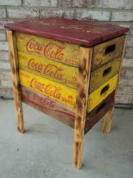 coca cola corner table made from reclaimed beverage crates and pallet wood 125 s