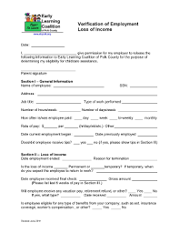 employment history verification form employment history verification forms and templates fillable