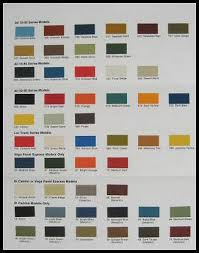 1974 Chevy Chevrolet Truck Paint Chip Color Chart Orig On