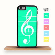 treblecleff musical treble clef personalised iphone case by crank