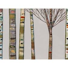 birch tree branches on light gray by eli halpin print of painting on canvas by greenbox art on birch branch wall art with tree branch wall art wayfair