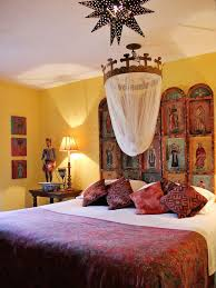 unique spanish style bedroom design. New Mexican / Style Decor - Santos And Retablos With Set From A Yellow Wall Unique Spanish Bedroom Design L