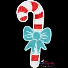 Candy Cane Applique Design Christmas Applique Design Candy Cane Bow