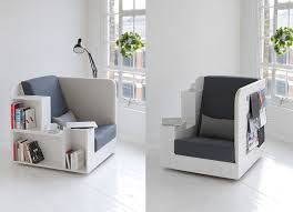 designer studio tilt chairs that double as bookcases