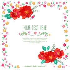 Free Floral Backgrounds Hand Painted Floral Background Vector Free Download