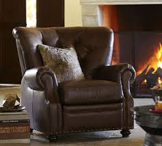 pottery barn recliner.  Pottery Lansing Leather Armchair Intended Pottery Barn Recliner N
