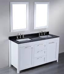 60 inch contemporary white double sink bathroom vanity