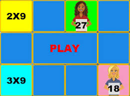 Multiplication Game Times Table 9