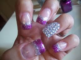 Pink Purple And Silver Nail Designs Nail Designs With Black And Silver Nail Designs