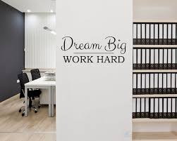 Dream Big Work Hard Quotes Wall Decal Motivational Vinyl Art Stickers Enchanting Wall Sticker Quotes