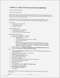Free Resume Examples For Cna Luxury Camp Counselor Resume Awesome