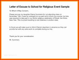 Absence Letter For School Sample Absence Excuse Letter For School Template Rones Info