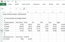 Google Stock Quote New Free Stock Quotes In Excel