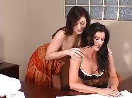 Lesbians Having Sex Office