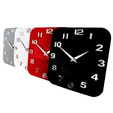 roco verre acrylic gloss modern retro wall clock