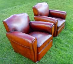 leather club chairs for sale. Beautiful For Pair Restored French Leather Club Chairs With For Sale G