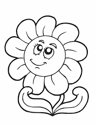 Small Picture Coloring Pages Draw Easy Flowers