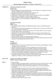 Sap Bi Sample Resume For 2 Years Experience Sap Bw Resume Samples Velvet Jobs 32