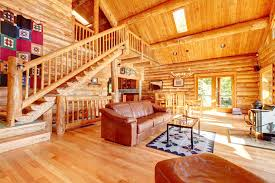 Log Cabin Living Room Concept Interesting Inspiration