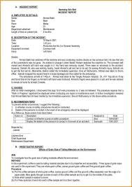Incident Report Letter Example Sample In Workplace Pdf Certificate