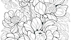Printable Coloring Pages Of Flowers And Butterflies Coloring Book Pages Of Flowers Tipsonairpurifiers Info