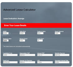 car leases calculator car lease calculator free tool to help you evaluate your car lease