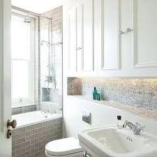 built in bathtub shelves blue and gray bathroom design with floating toilet